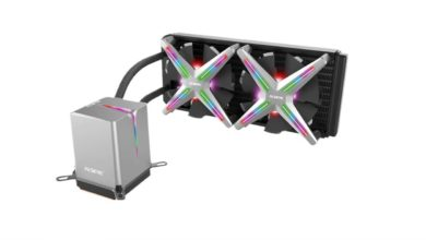 Photo of The colourful Alseye Xtreme X240 AiO in test