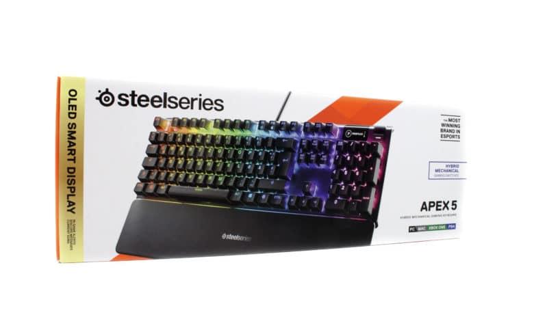 SteelSeries Apex 5 Verpackung