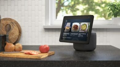 Photo of Amazon Echo Show 10 with rotatable display and sound