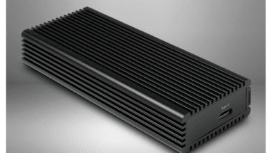 Photo of Inter-Tech Argus K-1685 – External aluminium NVMe case under test