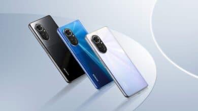 Bild der neuen Honor 50-Reihe in drei Farben
