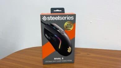 Bild der Verpackung der SteelSeries Rival 5 Gaming-Maus